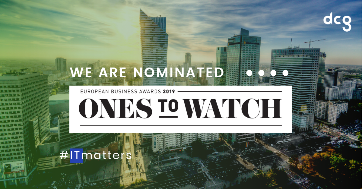 DCG na liście Ones To Watch European Business Awards 2019